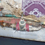 Wasserleitung nach Behebung eines Wasserschadens